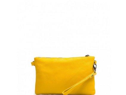 Kožená mini kabelka Bonita žlutá