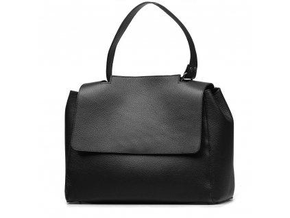 Kožená kabelka Savina černá