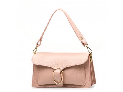 Kožená kabelka Diane pudrově růžová