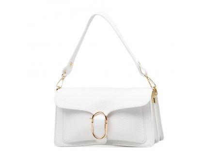 Kožená kabelka Diane bílá