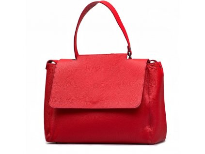 Kožená kabelka Savina červená