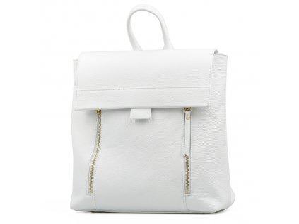 Kožený batůžek Arden bílý