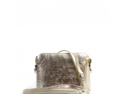 Kožená kabelka Stella zlatá