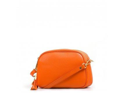 Kožená crossbody kabelka Irene oranžová