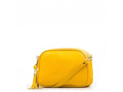 Kožená crossbody kabelka Irene žlutá