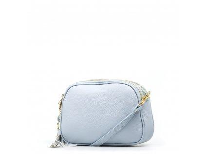 Kožená crossbody kabelka Irene světle modrá