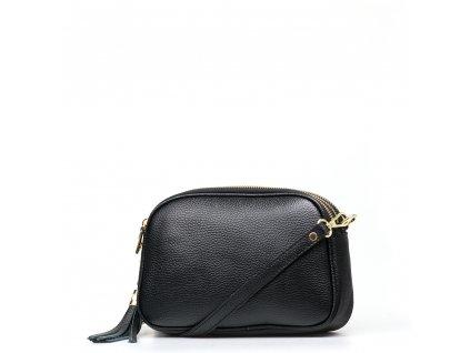 Kožená crossbody kabelka Irene černá