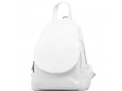 Kožený batůžek Maisy bílý