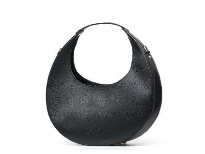 Kožená kabelka Gisela černá