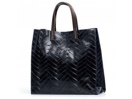 Kožená kabelka Melita tmavě modrá