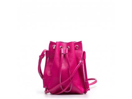 Kožená kabelka Ofelie fuchsiová