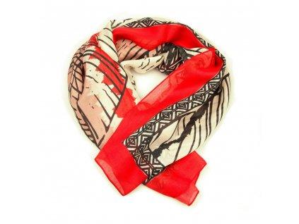 Dámský šál Arten červeno-béžový