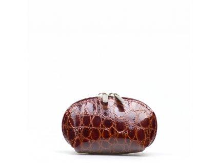 Kožené mini pouzdro bordó