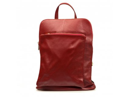 Kožený batůžek - kabelka Patricia vínový