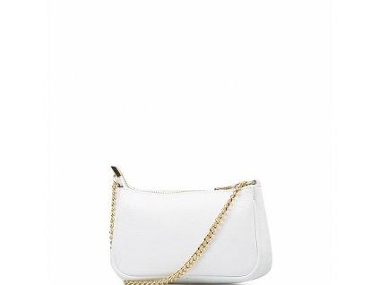 Kožená mini kabelka Irma bílá