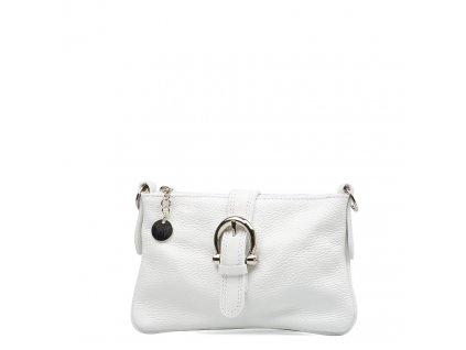 Kožená kabelka Betha bílá