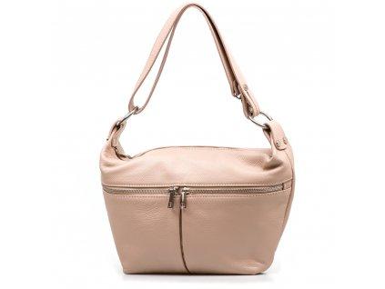 Kožená kabelka Carmela pudrově růžová