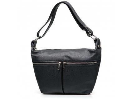 Kožená kabelka Carmela černá
