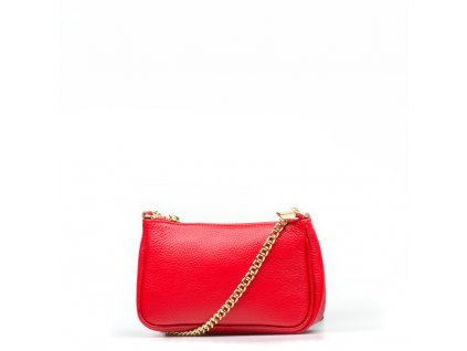 Kožená mini kabelka Irma červená