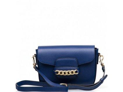 Kožená kabelka Noelle modrá