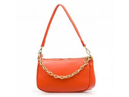 Kožená kabelka Katrin oranžová