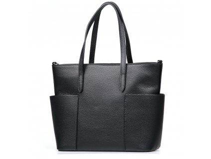 Kožená kabelka Aida černá