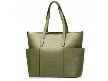 Kožená kabelka Aida zelená
