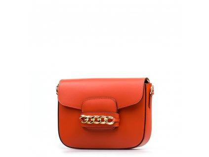Kožená kabelka Vania oranžová