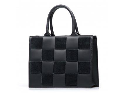Kožená kabelka Fiorina černá