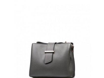 Kožená kabelka Margo šedá