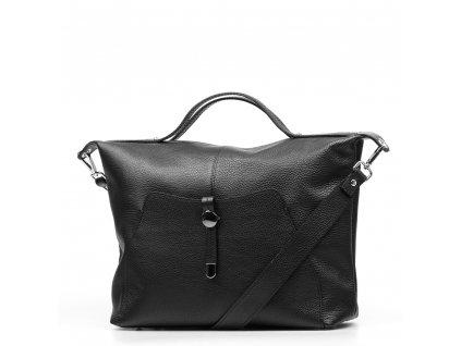 Kožená kabelka Raven černá
