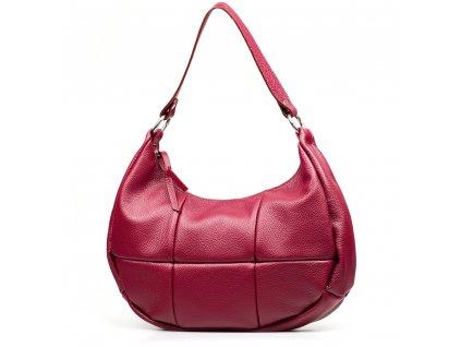Kožená kabelka Alexis vínově červená
