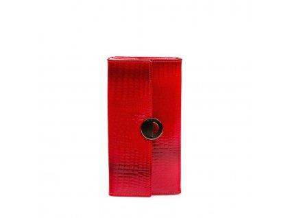Dámská kožená peněženka červená