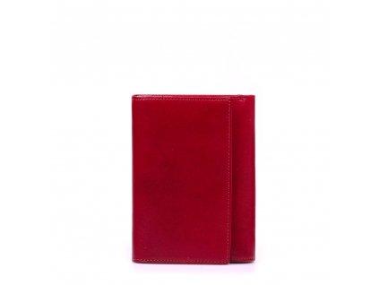 Kožená peněženka Lila vínově červená