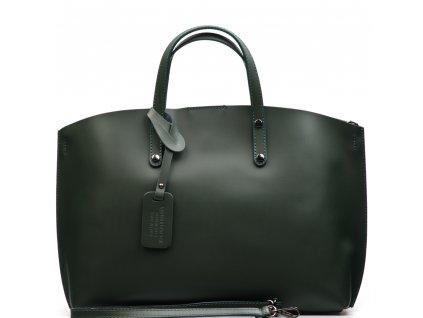 Kožená kabelka Alissa zelená