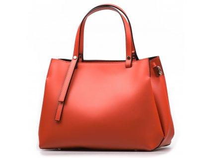 Kožená kabelka Manola oranžová