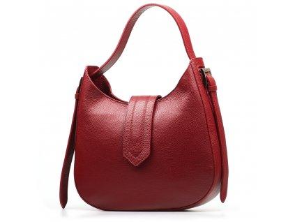 Kožená kabelka Janine vínově červená