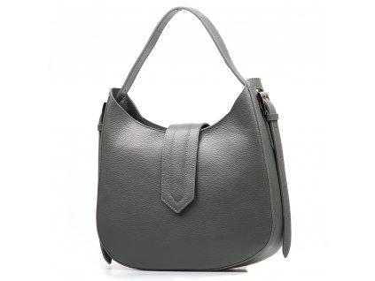 Kožená kabelka Janine šedá