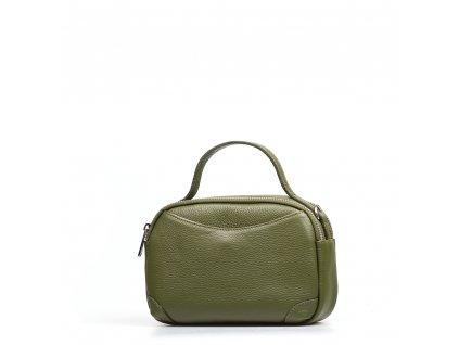 Kožená kabelka Tiara olivově zelená