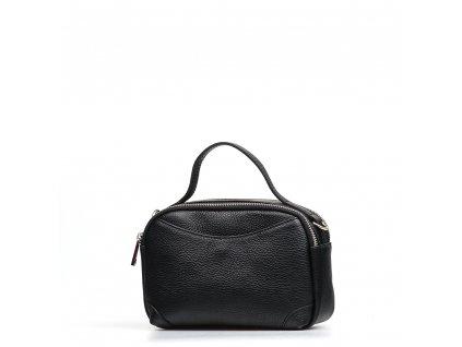 Kožená kabelka Tiara  černá