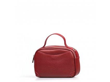 Kožená kabelka Tiara  vínově červená