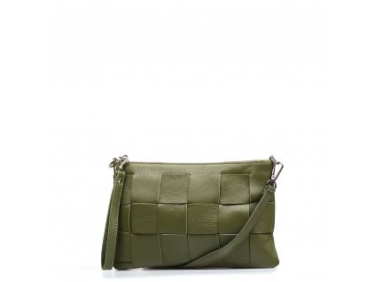Kožená kabelka Lorella olivově zelená