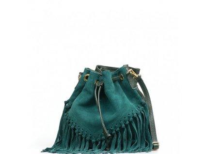 Kožená kabelka Kelly zelená