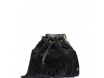 Kožená kabelka Kelly černá