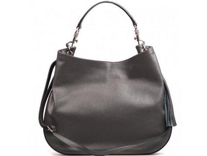 Kožená kabelka Amelia šedá