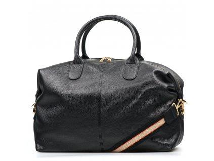 Kožená cestovní taška Billy černá