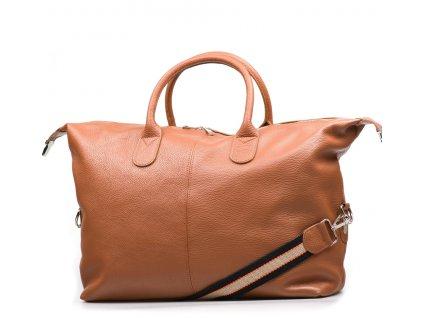 Kožená cestovní taška Billy koňakově hnědá