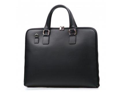 Kožená taška na notebook Clair černá