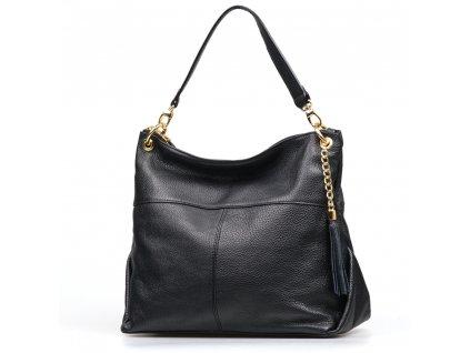 Kožená kabelka Atena černá