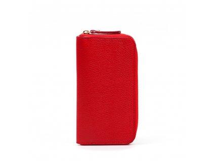 Kožená peněženka Olinda červená